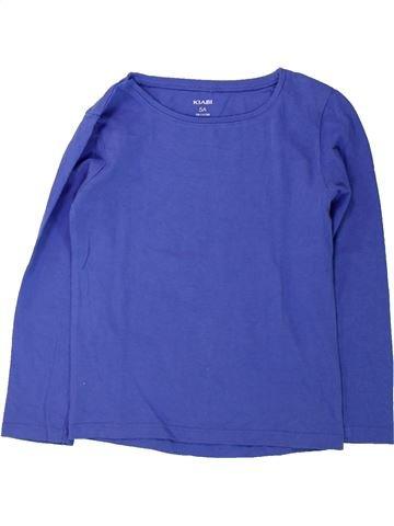 T-shirt manches longues fille KIABI bleu 5 ans hiver #1431874_1