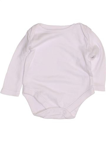 T-shirt manches longues unisexe GEORGE blanc 3 mois hiver #1432068_1