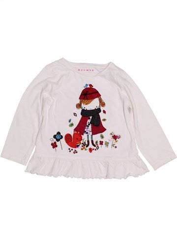T-shirt manches longues fille NUTMEG blanc 3 ans hiver #1432088_1