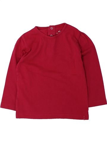 T-shirt manches longues fille KIABI rouge 2 ans hiver #1432104_1