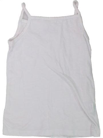 Camiseta sin mangas niña ORCHESTRA blanco 8 años verano #1432247_1