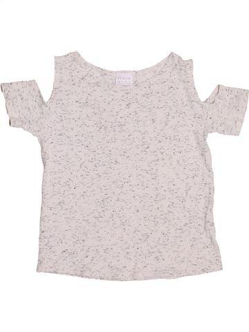 T-shirt manches courtes fille F&Y blanc 10 ans été #1432270_1