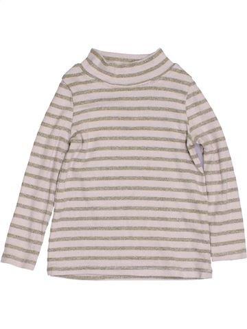 T-shirt col roulé fille NUTMEG blanc 2 ans hiver #1432292_1