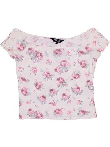 T-shirt manches courtes fille NEW LOOK blanc 13 ans été #1432297_1