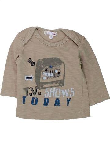T-shirt manches longues garçon KIABI beige 3 mois hiver #1432314_1