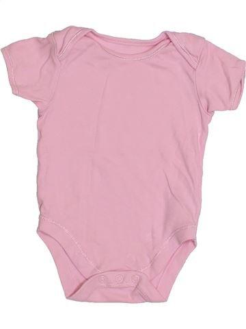 T-shirt manches courtes fille GEORGE rose 9 mois été #1432505_1