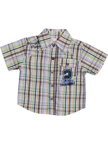 Chemise manches courtes garçon BERTI gris 3 mois été #1432531_1