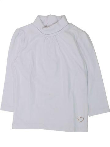 T-shirt col roulé fille KIABI blanc 2 ans hiver #1432569_1