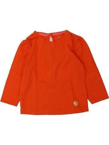 T-shirt manches longues fille KIABI rouge 18 mois hiver #1432580_1