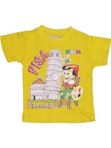 T-shirt manches courtes garçon SANS MARQUE blanc 2 ans été #1432695_1