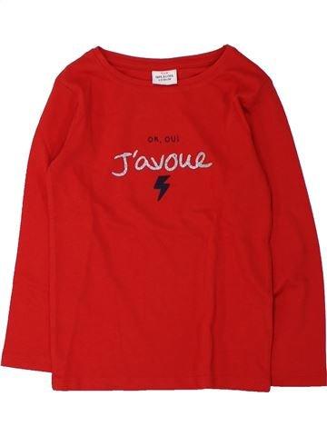 T-shirt manches longues fille TAPE À L'OEIL rouge 4 ans hiver #1432703_1