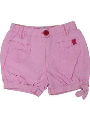 Short-Bermudas niña LA REDOUTE CRÉATION rosa 18 meses verano #1432942_1