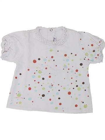 T-shirt manches courtes fille SUCRE D'ORGE blanc 6 mois été #1432944_1