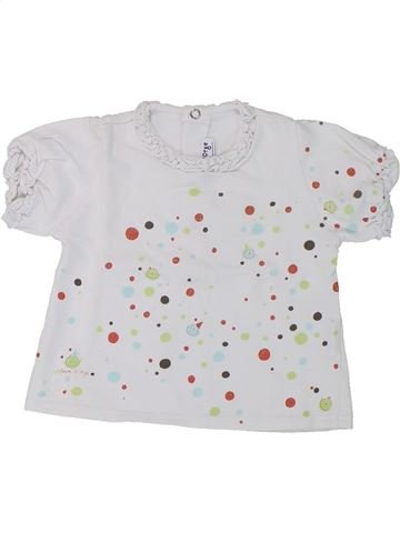 Camiseta de manga corta niña SUCRE D'ORGE blanco 6 meses verano #1432944_1