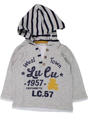 Camiseta de manga larga niño LULU CASTAGNETTE gris 12 meses invierno #1433183_1