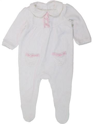 Pijama de 1 pieza niña GEORGE blanco 6 meses invierno #1433479_1