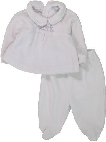 Pijama de 2 piezas niña KIMBALOO blanco 3 meses invierno #1433616_1