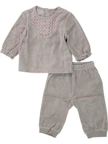 Pijama de 2 piezas niña VERTBAUDET gris 6 meses invierno #1433683_1