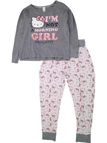 Pijama de 2 piezas niña HELLO KITTY gris 12 años invierno #1433696_1
