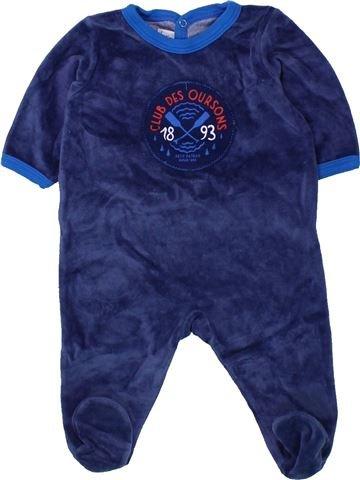 Pijama de 1 pieza niño PETIT BATEAU azul 3 meses invierno #1433798_1