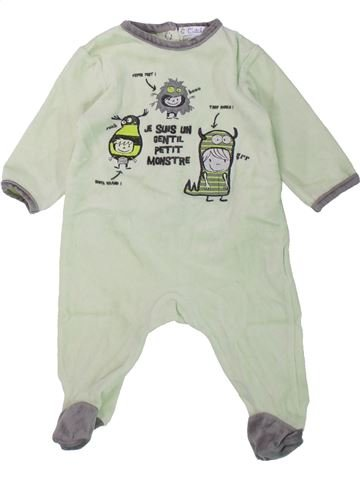 Pijama de 1 pieza niño KIABI blanco 6 meses invierno #1433821_1