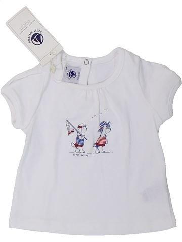 Camiseta de manga corta niña PETIT BATEAU gris 3 meses verano #1433833_1