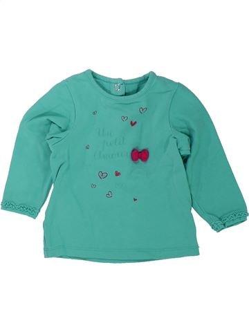 Camiseta de manga larga niña ORCHESTRA verde 6 meses invierno #1433984_1