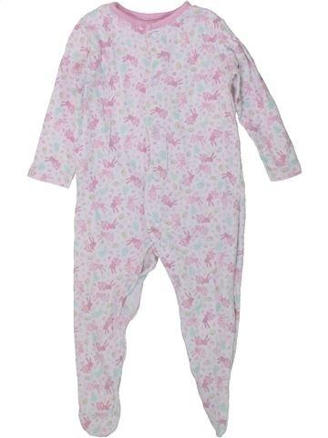 Pijama de 1 pieza niña F&F blanco 3 meses verano #1434065_1