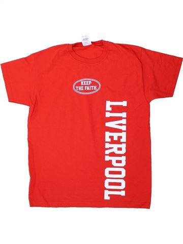 T-shirt manches courtes garçon FRUIT OF THE LOOM rouge 11 ans été #1434091_1