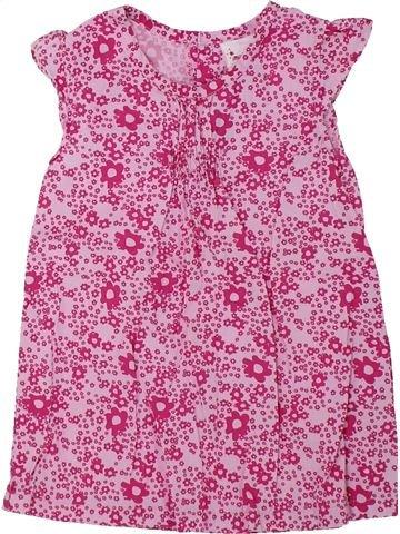 Blusa de manga corta niña IMPIDIMPI rosa 3 años verano #1434246_1