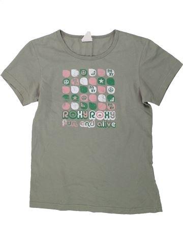 T-shirt manches courtes fille ROXY gris 14 ans été #1434424_1