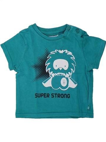 T-shirt manches courtes garçon OKAIDI vert 6 mois été #1434525_1