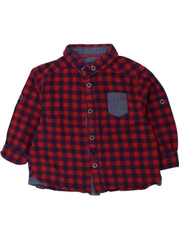 Chemise manches longues garçon OKAIDI marron 6 mois hiver #1434530_1