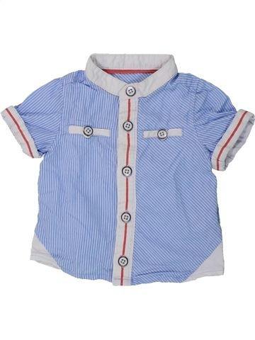 Chemise manches courtes garçon TAPE À L'OEIL bleu 6 mois été #1434736_1