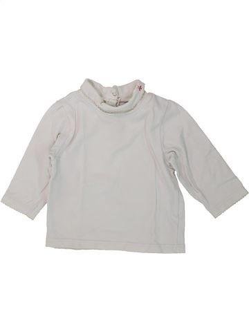 T-shirt col roulé fille OKAIDI gris 6 mois hiver #1434860_1