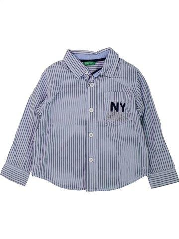 Chemise manches longues garçon BENETTON gris 2 ans hiver #1434939_1