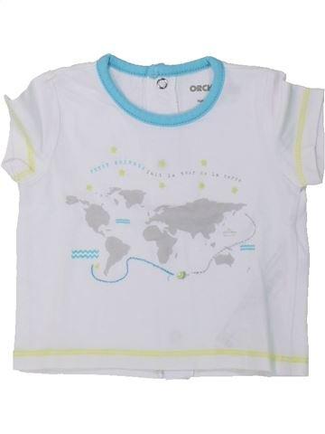 T-shirt manches courtes garçon ORCHESTRA blanc naissance été #1435690_1
