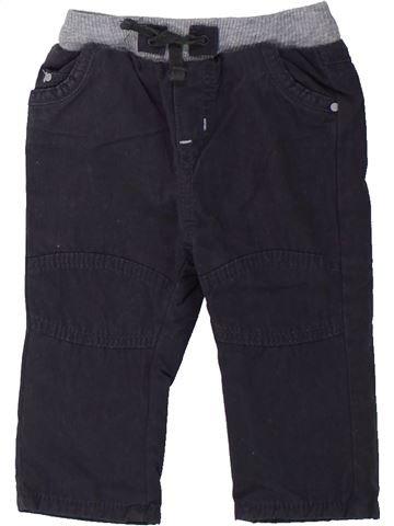 Pantalon garçon OKAIDI bleu foncé 6 mois hiver #1437862_1