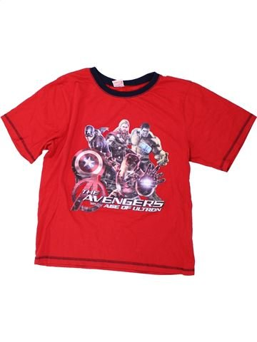 T-shirt manches courtes garçon SUPERS HÉROS rouge 13 ans été #1438508_1