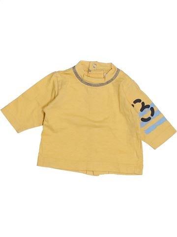 T-shirt manches longues garçon 3 POMMES jaune 1 mois hiver #1439406_1