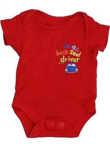 T-shirt manches courtes garçon GEORGE rouge prématuré été #1439655_1