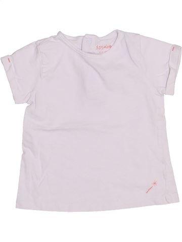 T-shirt manches courtes fille KIMBALOO blanc 12 mois été #1440707_1
