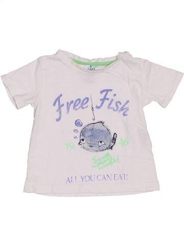T-shirt manches courtes garçon ZARA blanc 6 mois été #1442034_1