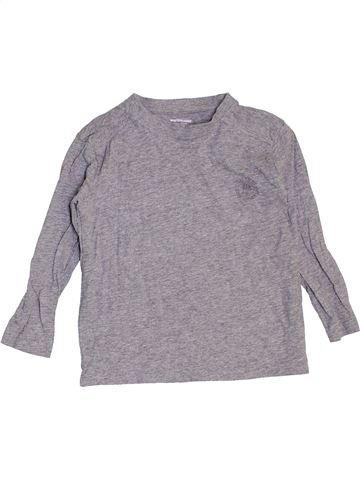 T-shirt manches longues garçon VERTBAUDET gris 4 ans hiver #1442128_1