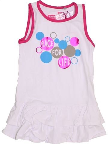 Robe fille RACE FOR LIFE blanc 4 ans été #1442960_1