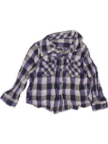 Chemise manches longues garçon ZARA bleu 9 mois hiver #1443109_1