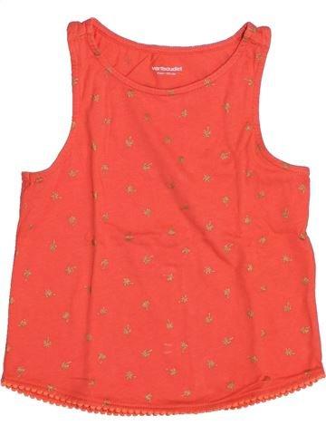 T-shirt sans manches fille VERTBAUDET rouge 4 ans été #1443395_1