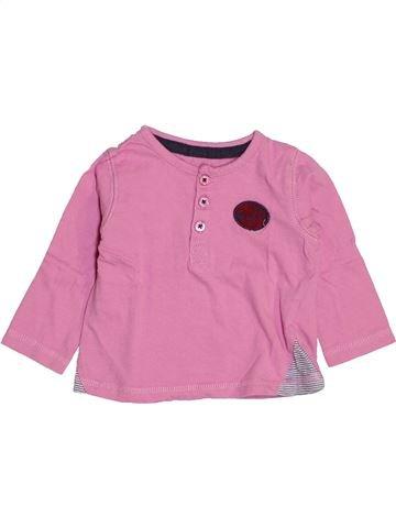 Camiseta de manga larga niño VERTBAUDET rosa 9 meses invierno #1443709_1
