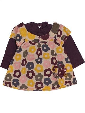 Blusa de manga larga niña CONFETTI marrón 6 meses invierno #1443712_1