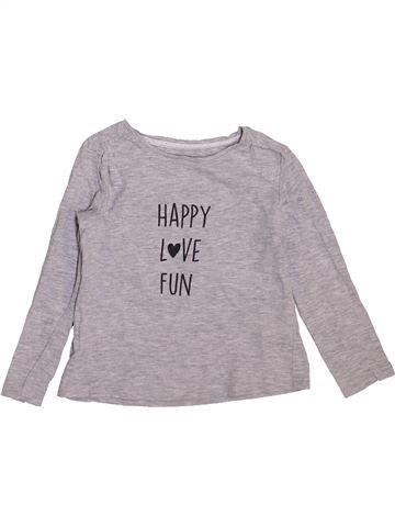 T-shirt manches longues fille VERTBAUDET gris 3 ans hiver #1443932_1